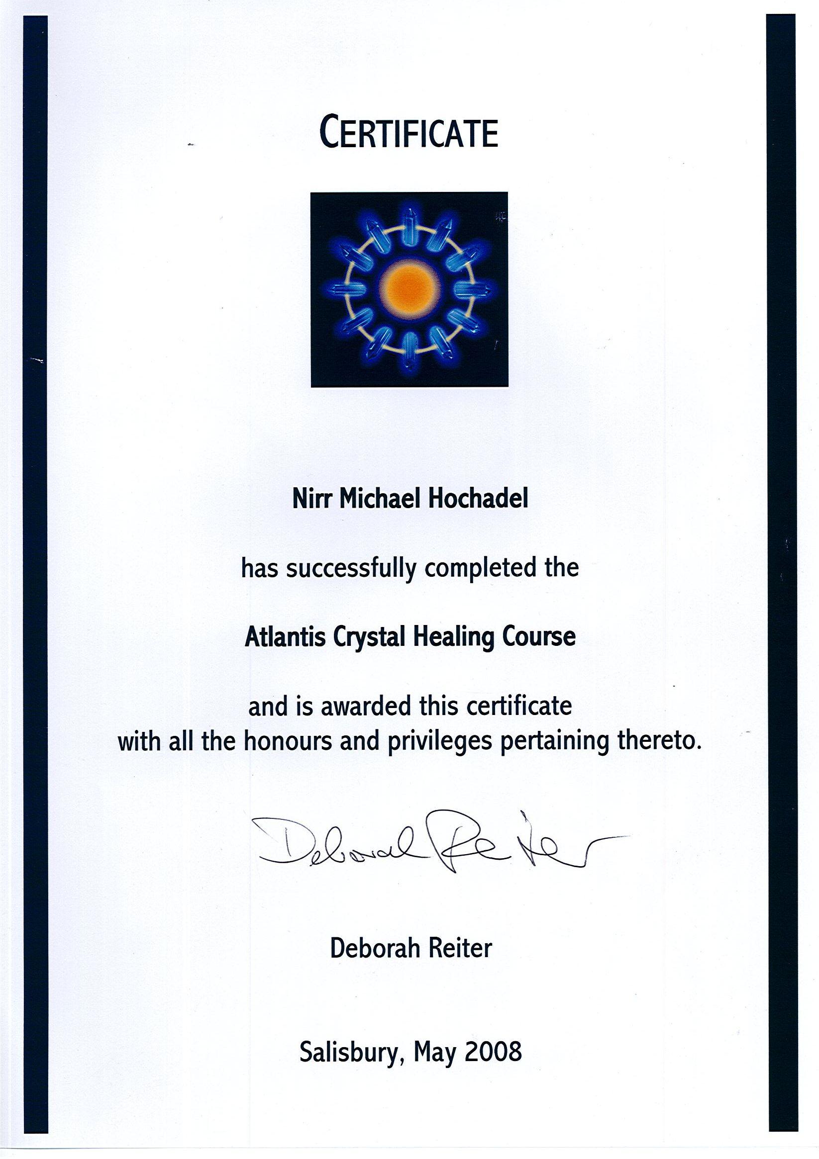 Certificate ACH
